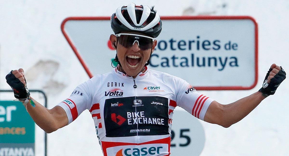 Esteban Chaves logró quedarse con el título de la montaña en la Volta a Catalunya. Foto: EFE