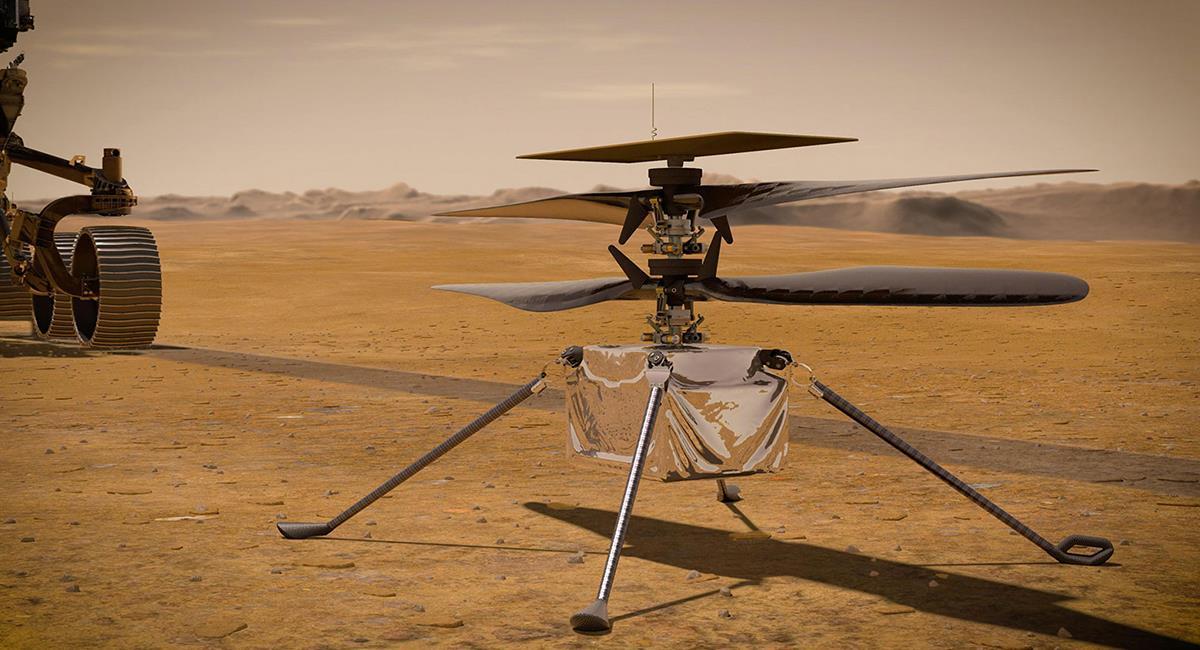 El helicóptero Ingenuity volará en una zona de 10 por 10 metros. Foto: Twitter @NASA