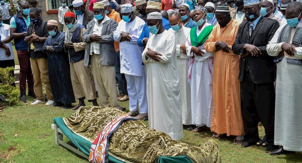Funeral de Sarah Onyango Obama, abuela de Barack Obama. Foto: EFE