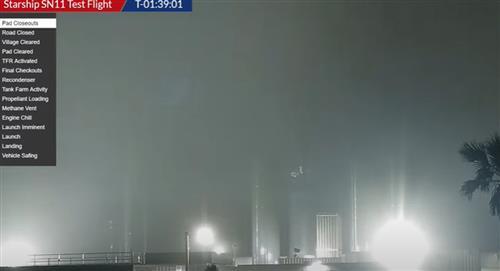 La dramática explosión del SN11 StarShip de SpaceX, tras otro intento fallido