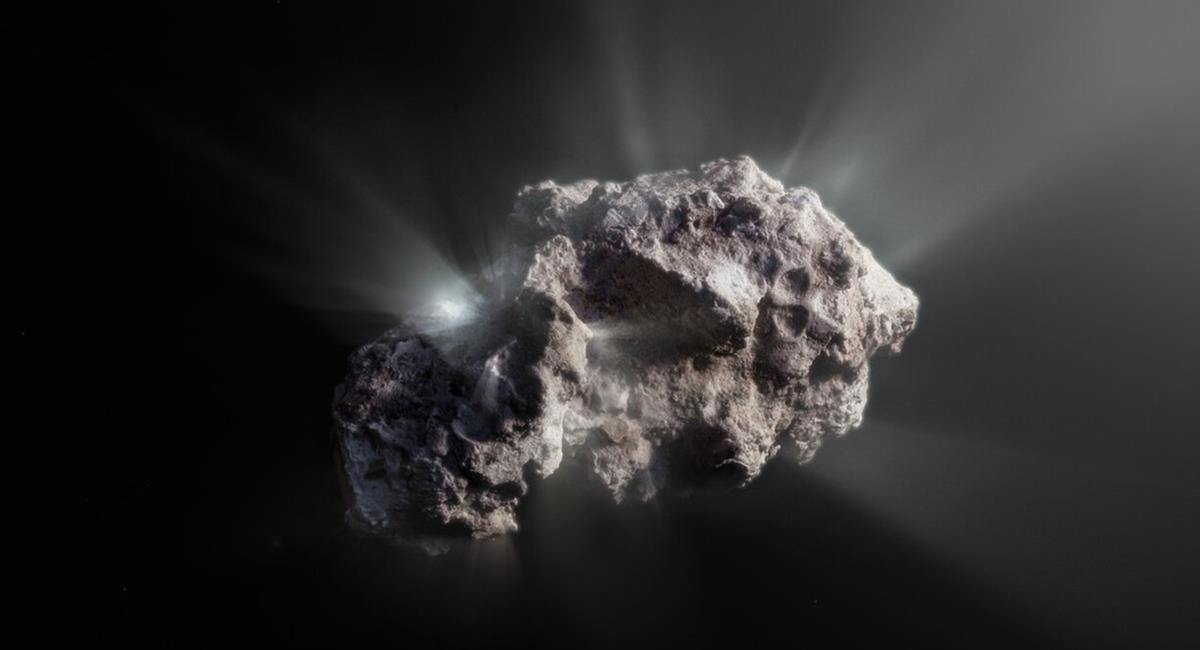 """Los investigadores consideran que este cometa """"está casi inmaculado"""". Foto: Twitter @ESO"""