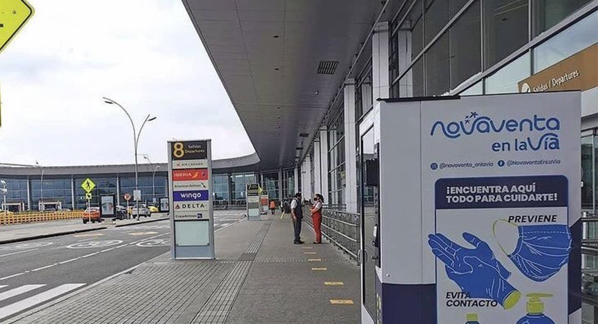 Los viajeros podrán desplazarse por la ciudad, para llegar a su vuelo programado. Foto: Twitter @BOG_ElDorado