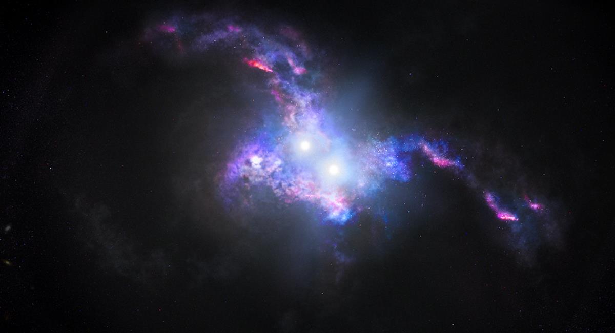 Los astrónomos revelaron que estos cuerpos celestes, tenían 10.000 millones de años luz. Foto: Twitter @NASA
