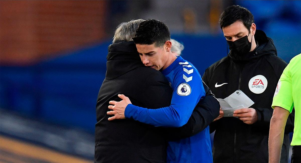 James Rodríguez fue la figura del compromiso entre Everton y Crystal Palace. Foto: EFE