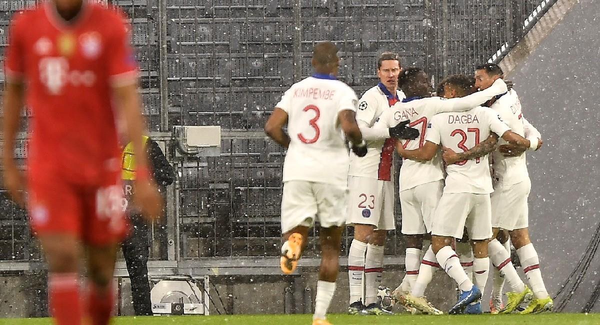 París Saint Germain celebra su victoria ante Bayern Múnich. Foto: EFE