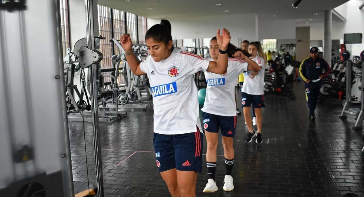 Catalina Usme se prepara para los partidos contra Ecuador. Foto: FCF