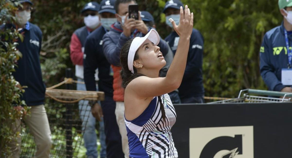 María Camila Osorio está en cuartos de final de la Copa Colsanitas. Foto: Twitter @CopaColsanitas_