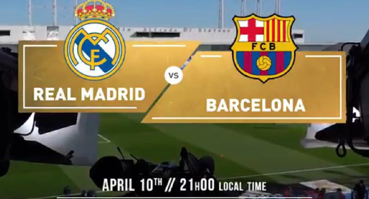 Sigue EN VIVO y desde cualquier lugar del mundo el partido Real Madrid - Barcelona. Foto: Twitter @realmadrid