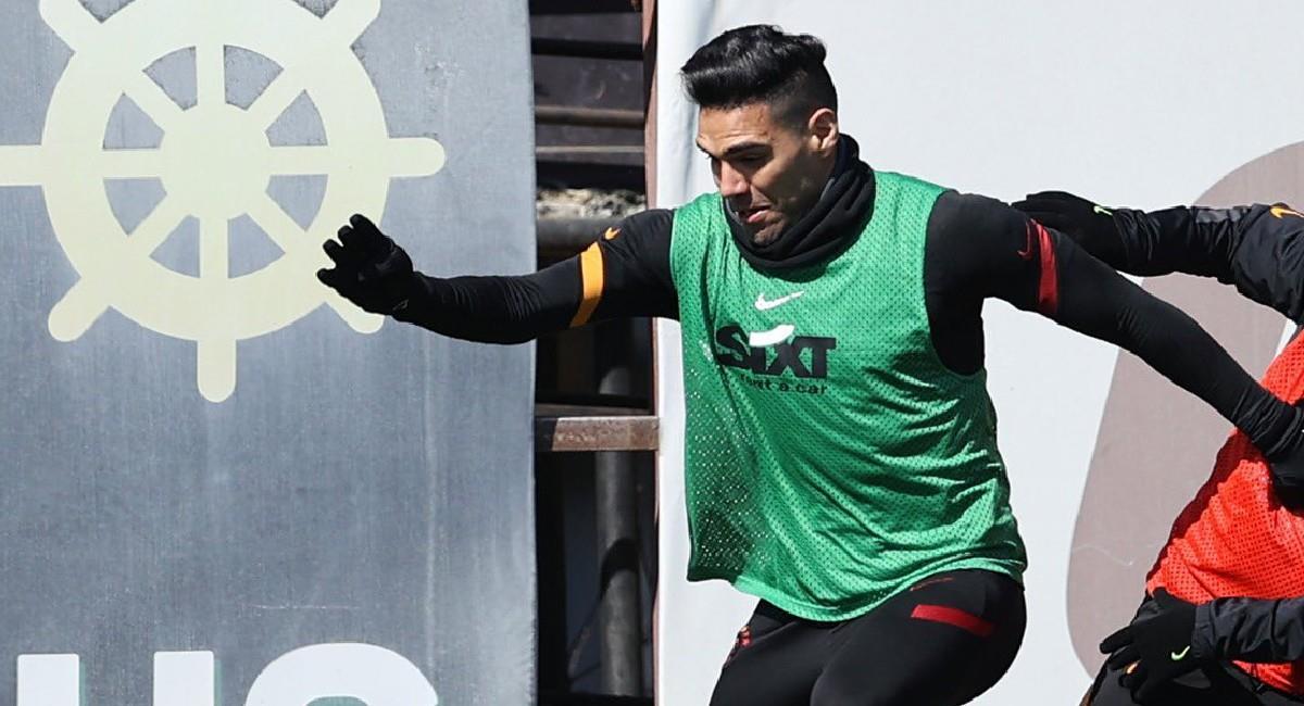 Falcao García, jugador de Galatasaray de Turquía. Foto: Twitter @Galatasaray