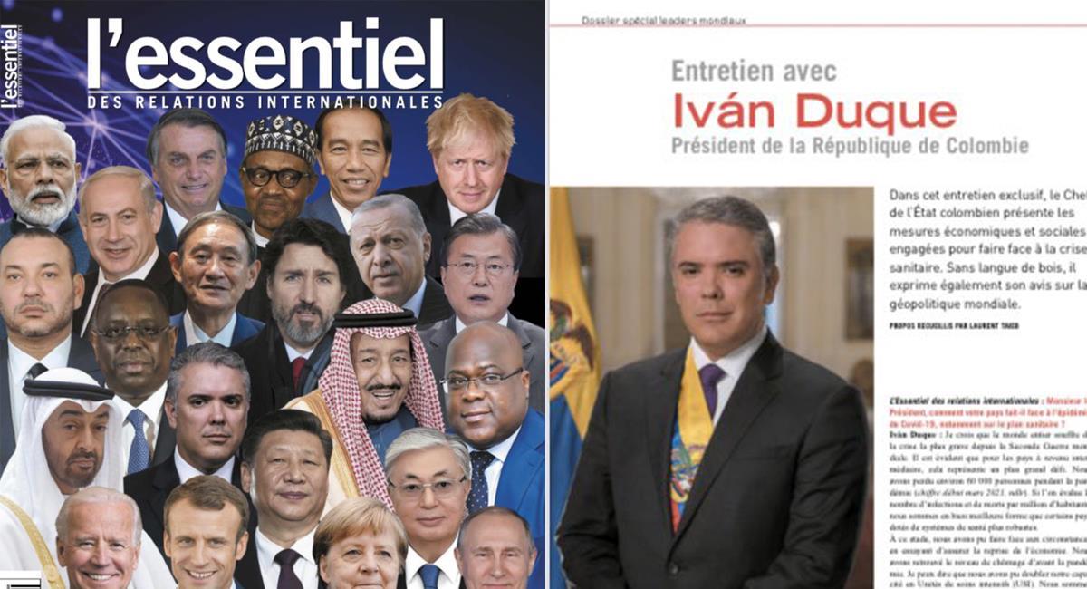 L´essentiel, revista francesa especializada en relaciones exteriores, destaca a Iván Duque como un importante líder mundial. Foto: Twitter @HassNassar