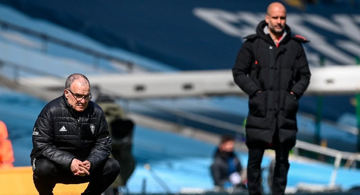 Marcelo Bielsa le ganó el pulso a Pep Guardiola. Foto: EFE