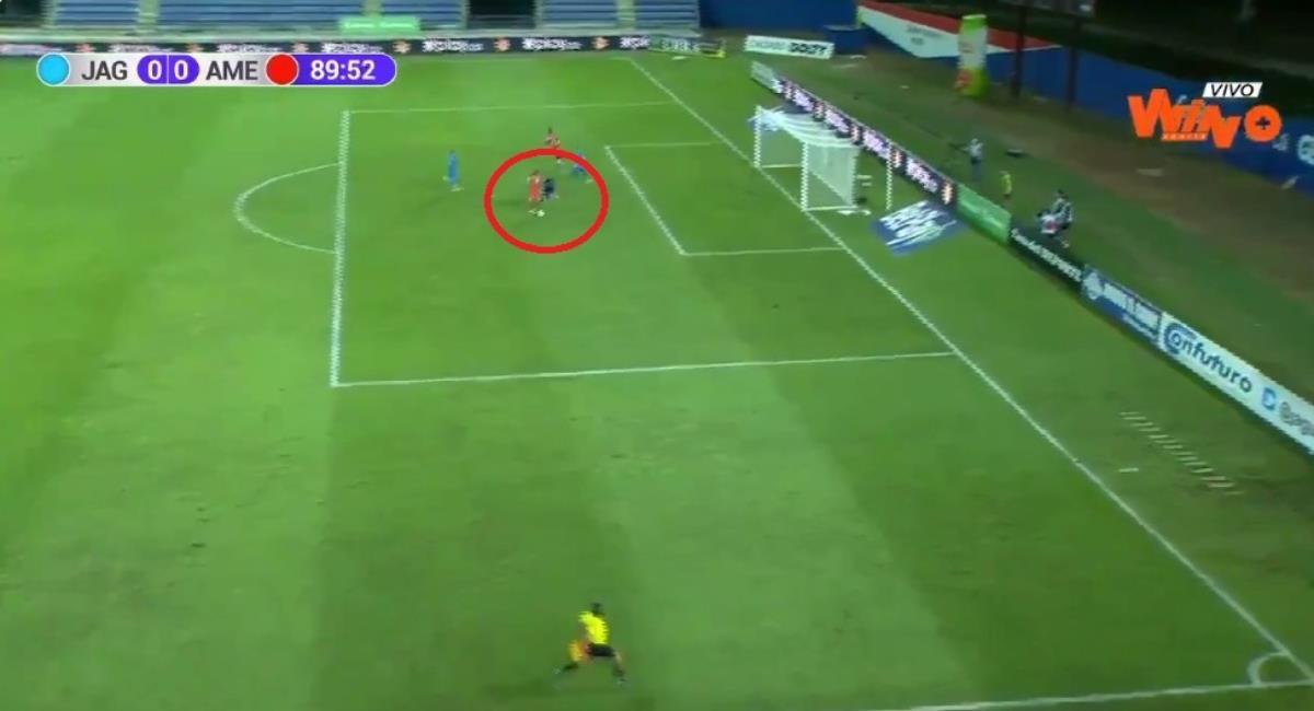 Empate entre Jaguares y América. Foto: Twitter Captura pantalla Win Sports.