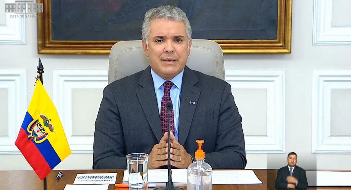 Presidente de Colombia, Iván Duque Márquez. Foto: Twitter @infopresidencia