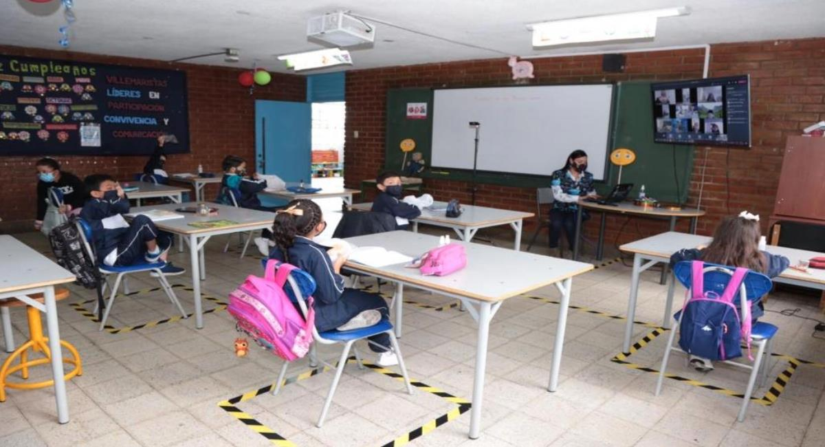 Colegios de Bogotá mantendrán la presencialidad a pesar de la alerta naranja. Foto: Secretaría de Educación
