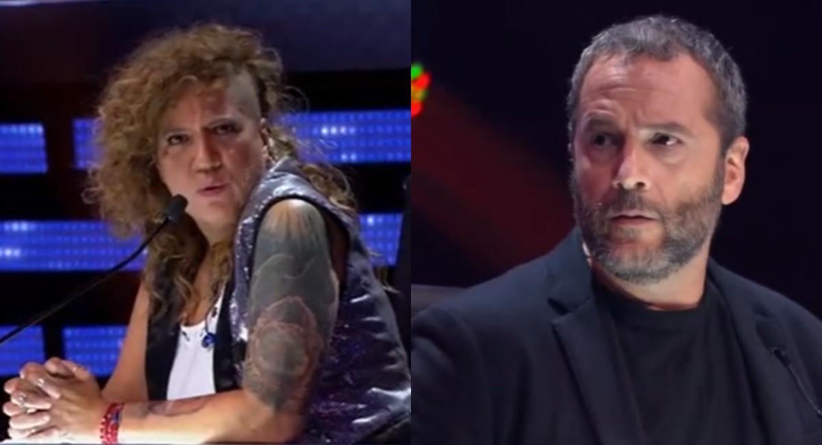 Rosalía y José Gaviria en el 'Factor X'. Foto: Canal RCN