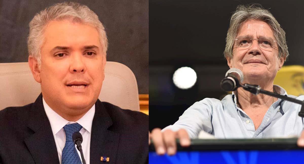 Iván Duque, presidente de Colombia, y Guillero Lasso, presidente electo de Ecuador. Foto: Presidencia Colombia / EFE