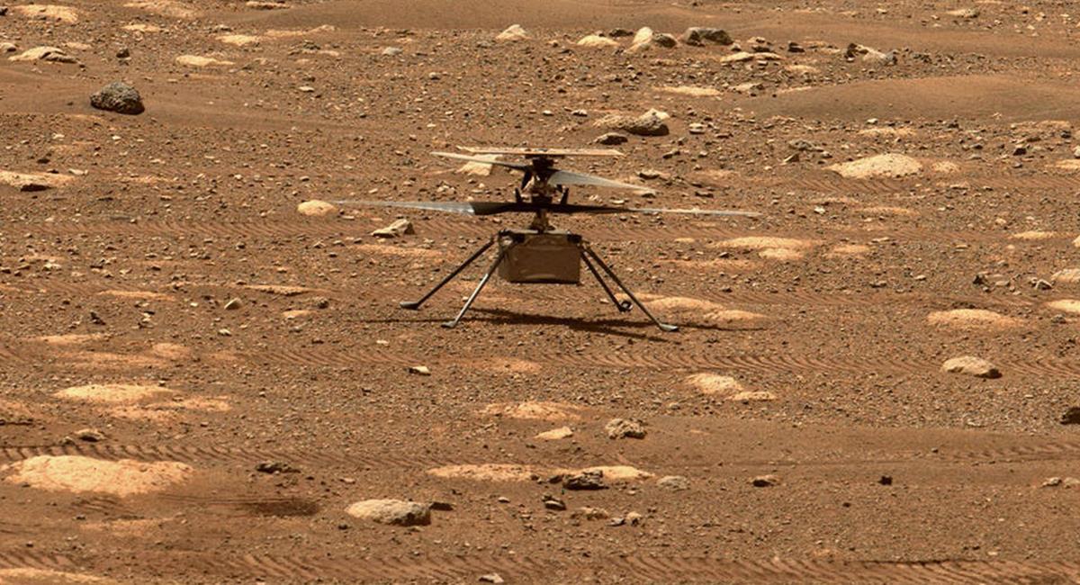 """Aún se desconocen los detalles, la NASA advierte que el Ingenuity """"está en perfecto estado"""". Foto: Twitter @NASA"""