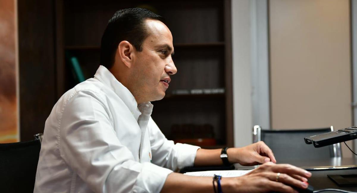 Mauricio Aguilar Hurtado, Gobernador de Santander. Foto: Twitter @MAguilarHurtado