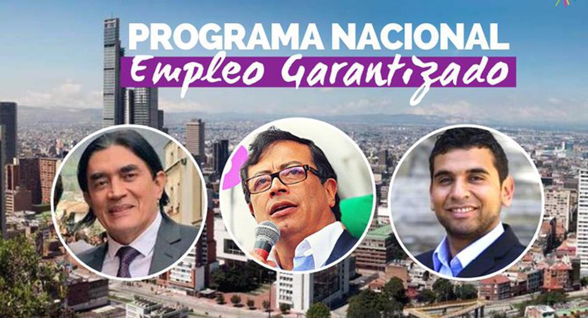 Gustavo Petro, Gustavo Bolívar y David Racero quieren contribuir a mejorar las condiciones de empleo y a la creación de él. Foto: Twitter @AProgresista