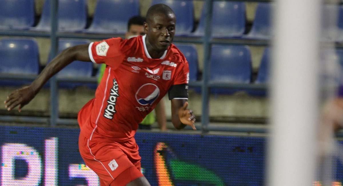 Adrián Ramos, durante el partido contra Jaguares. Foto: Twitter / @AmericadeCali