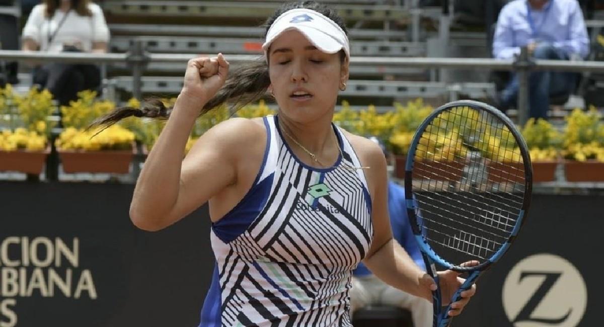 María Camila Osorio, tenista colombiana. Foto: Twitter @CopaColsanitas_