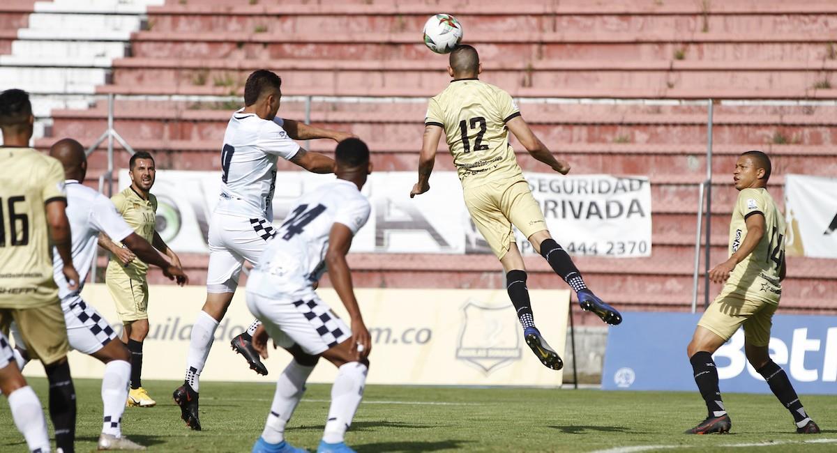 El partido entre Águilas Doradas y Boyacá Chicó terminó 3-0 a favor del equipo de Boyacá. Foto: Twitter @Dimayor