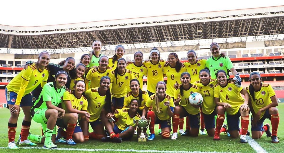La Selección Colombia femenina goleó a su similar de Ecuador con 4 goles de Catalina Usme. Foto: Twitter @FCFSeleccionCol