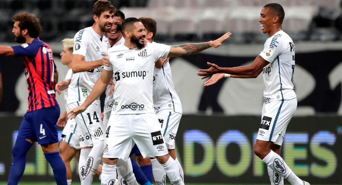 Santos se clasificó al grupo C de la Copa Conmebol Libertadores. Foto: EFE
