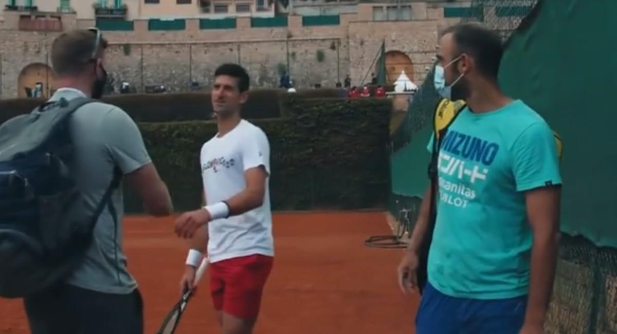 Cabal y Djokovic en Montecarlo. Foto: Twitter @ATPTour_ES