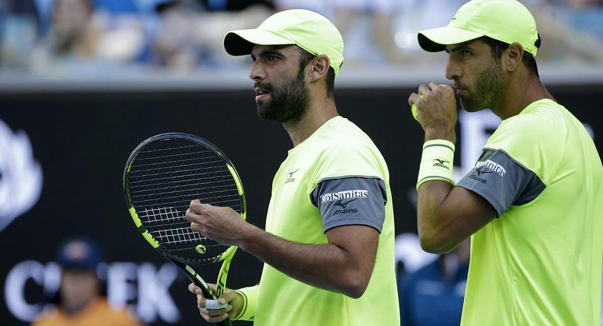 Cabal y Farah, tenistas colombianos. Foto: Twitter
