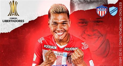 Sigue EN VIVO Copa Conmebol Libertadores Partido Junior Bolívar Estadio Metropolitano Barranquilla