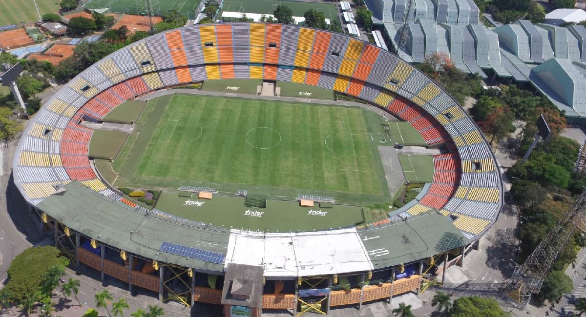 Atanasio Girardot, estadio de la ciudad de Medellín. Foto: Twitter @INDERMEDELLIN