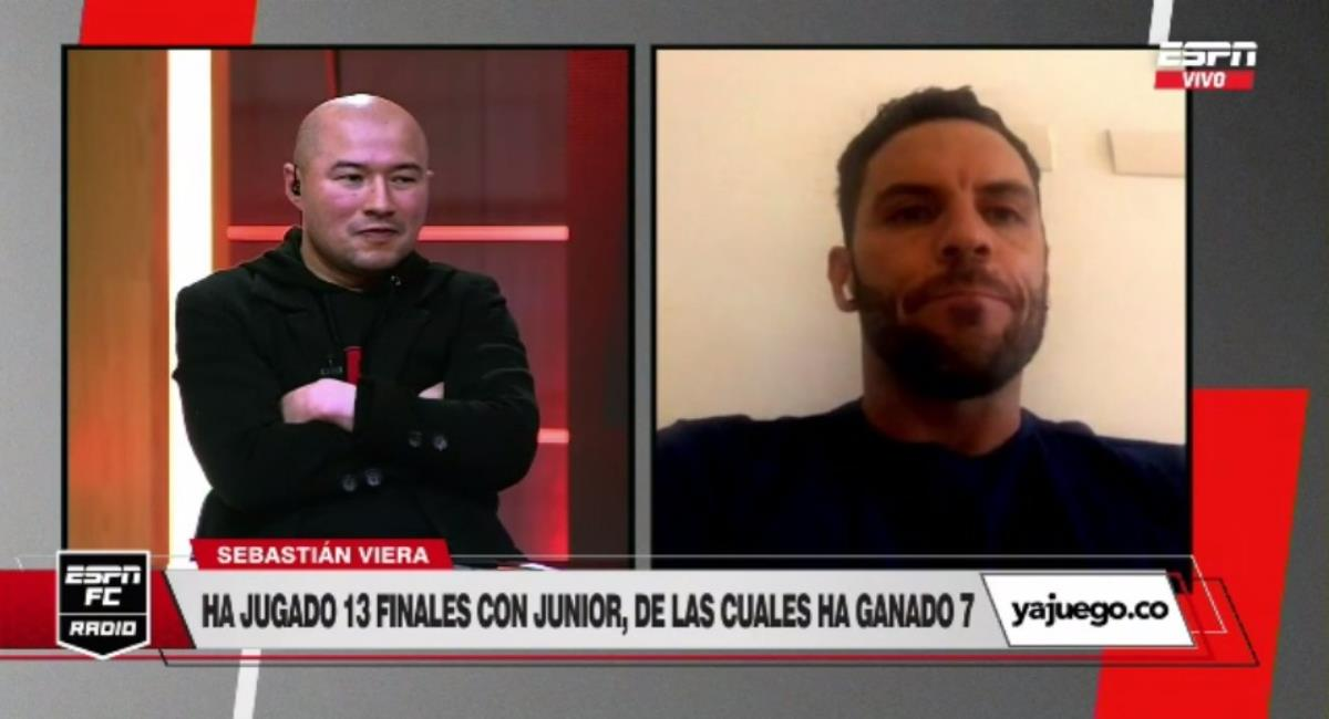 Dura discusión entre Jorge Bermúdez y Sebastián Viera. Foto: Twitter captura pantalla ESPN.
