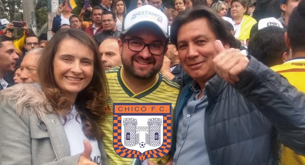 Burlas a Eduardo Pimentel por descenso del Boyacá Chicó. Foto: Twitter Prensa redes Eduardo Pimentel.