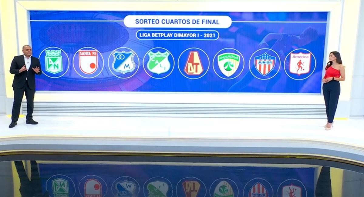 Varios partidos interesantes habrán en los cuartos de final de la Liga BetPlay. Foto: Twitter Captura @WinSportsTV