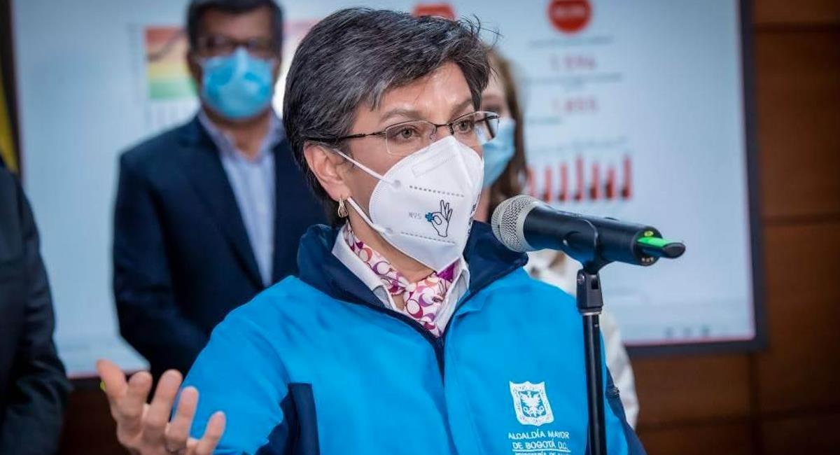 Claudia López se muestra preocupada por falta de vacunas en la capital. Foto: Alcaldía de Bogotá