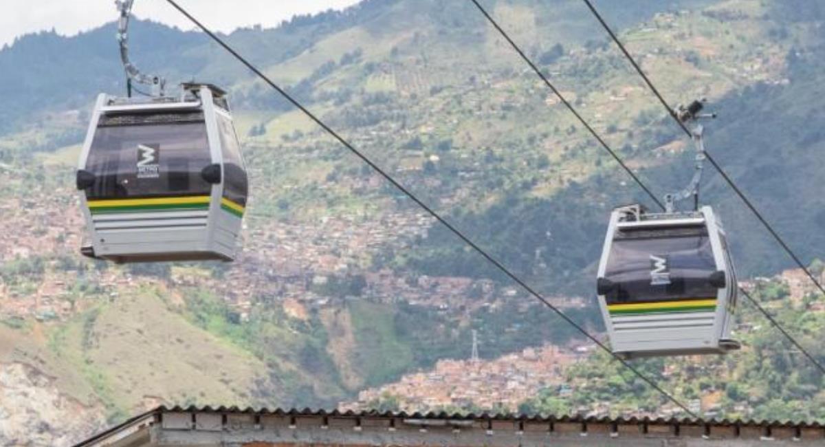 Inician las pruebas de peso en el Metrocable Picacho de Medellín. Foto: Alcaldía de Medellín