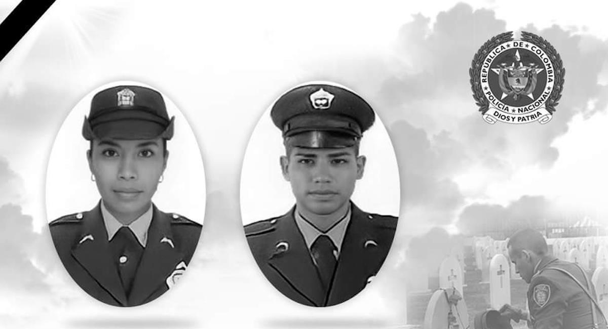 Patrulleros asesinados en Caquetá. Foto: Twitter @PoliciaColombia