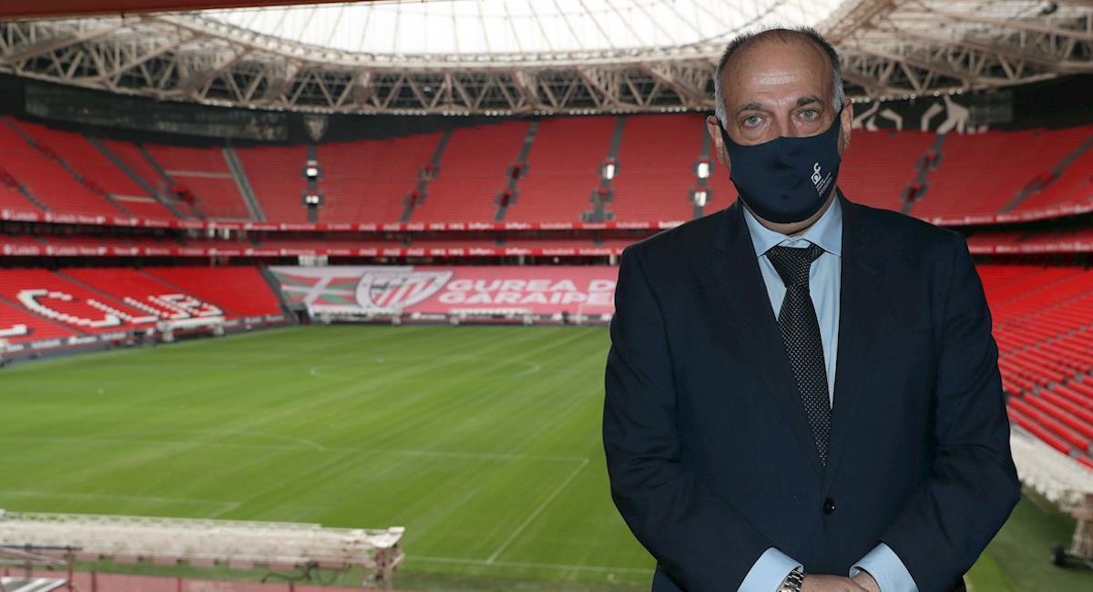 Javier Tebas, presidente de LaLiga. Foto: EFE