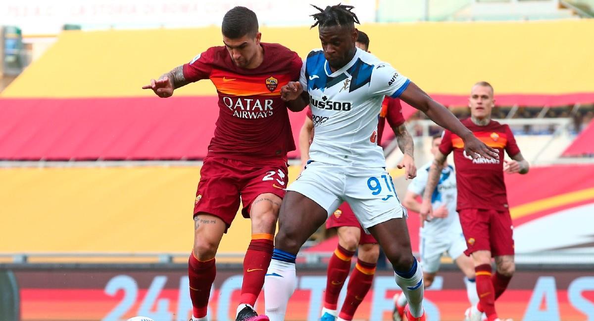 Duván Zapata en el partido ante Roma. Foto: EFE