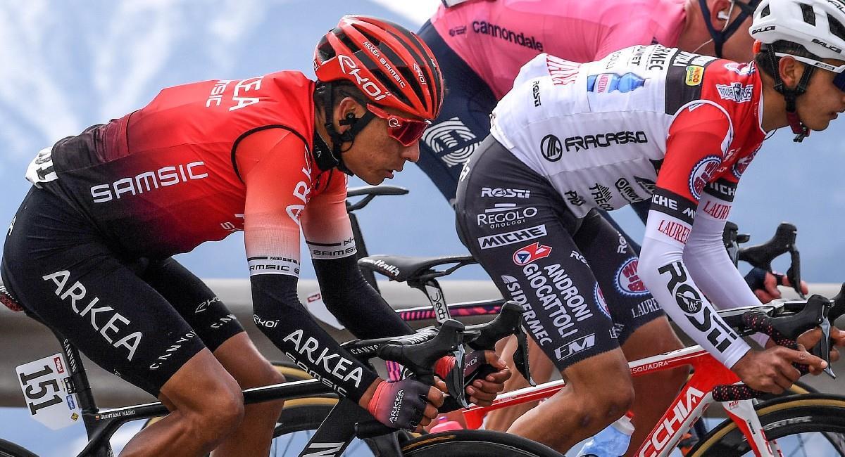 Nairo Quintana en acción en el Tour de los Alpes. Foto: Twitter @Arkea_Samsic