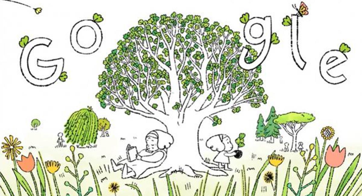 """El 'doodle' interactivo crea conciencia """"para sembrar en familia"""" y de generación a generación. Foto: Twitter @Google"""