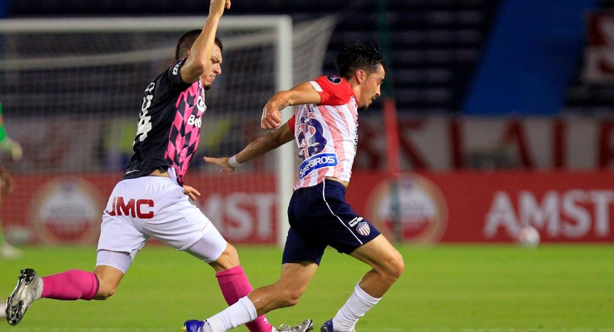 Junior y Santa Fe igualaron en Copa Conmebol Libertadores. Foto: EFE