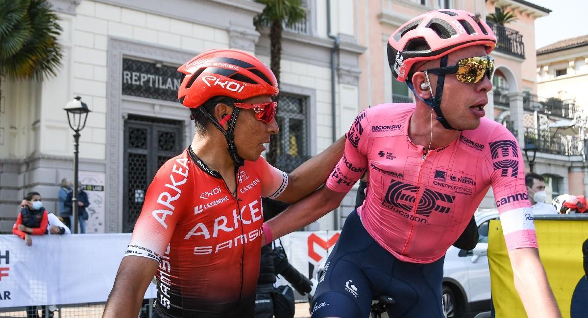 Nairo Quintana terminó en la séptima posición del Tour de los Alpes. Foto: Twitter @Arkea_Samsic