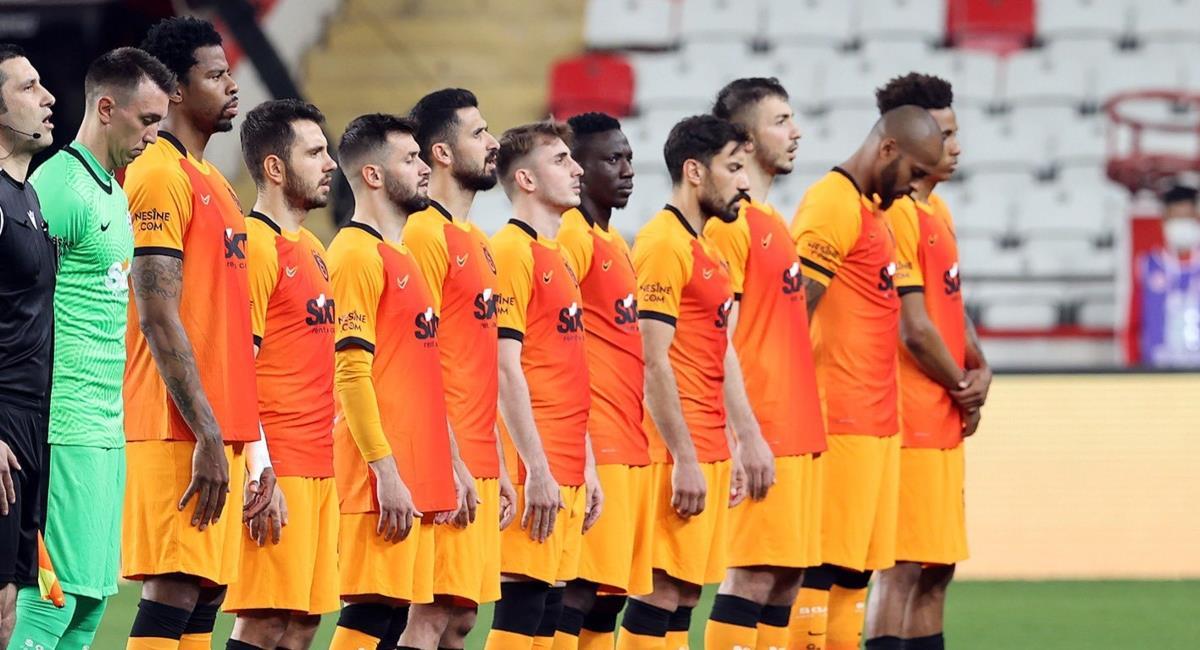 Victoria de Galatasaray en el Liga de Turquía. Foto: Twitter Prensa redes Galatasaray.