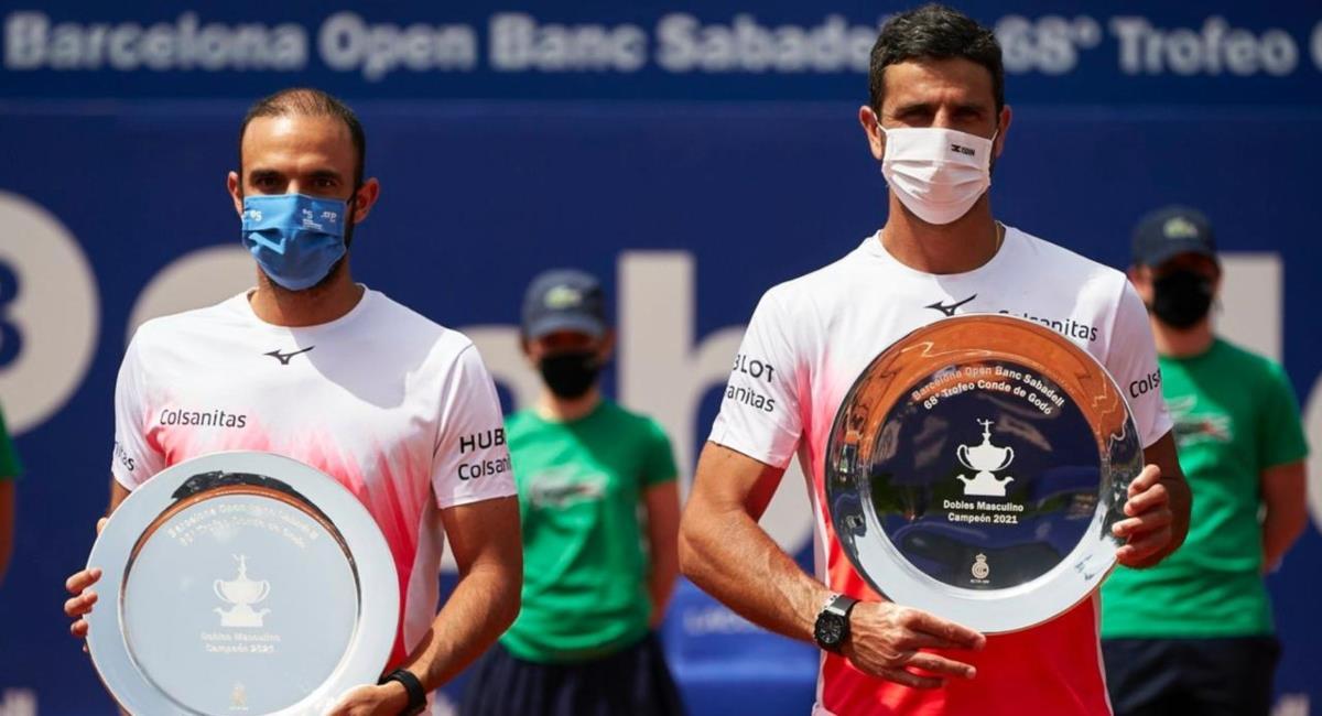 Juan Sebastián Cabal y Robert Farah campeones del ATP 500 Barcelona. Foto: Twitter Prensa redes Fedecoltenis.
