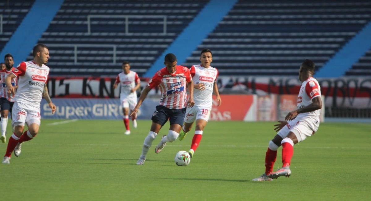 Junior venció a Santa Fe. Foto: Twitter Prensa redes Junior de Barranquilla.