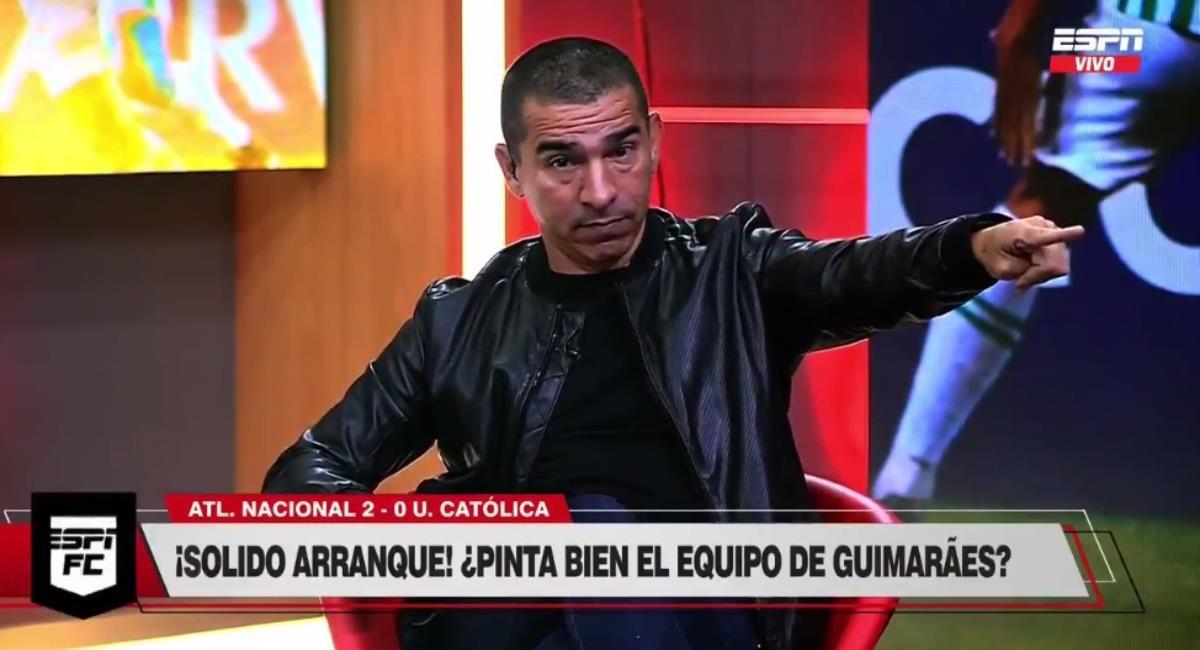 Víctor Aristizábal da como candidato a Nacional para ganar la Libertadores. Foto: Twitter captura pantalla ESPN.