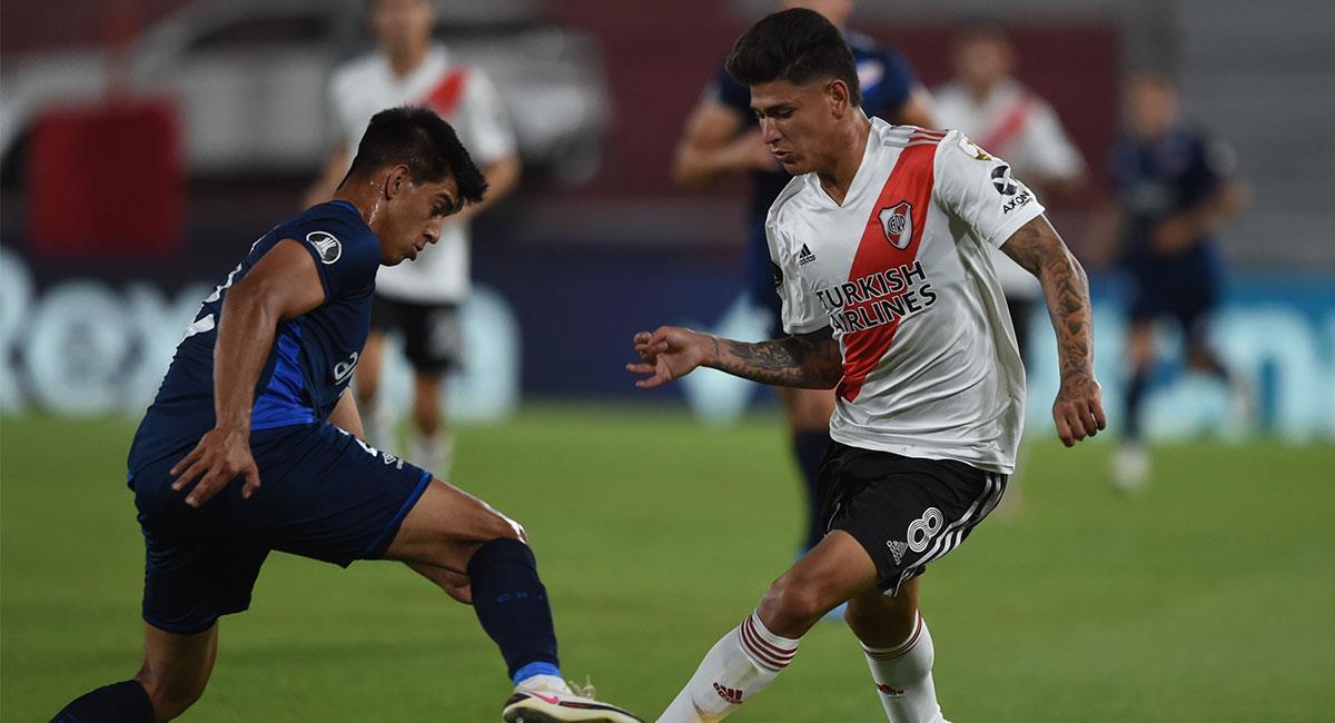 Jorge Carrascal ha tenido flojos rendimientos con River Plate. Foto: Twitter @RiverPlate