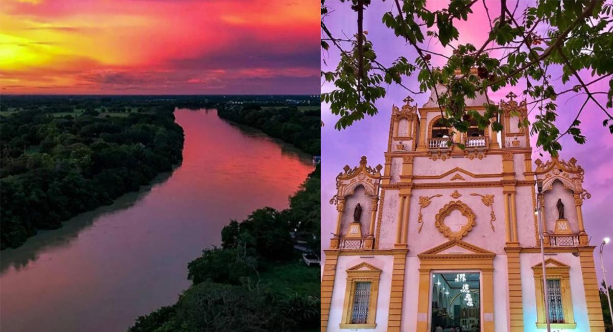 El Río Sinú atraviesa la ciudad y le aporta una belleza sin igual a sus paisajes. Foto: Instagram @Monteria_cordobacolombia